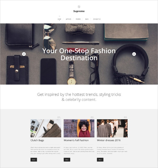 Fashion Responsive Moto CMS 3 Blog Template