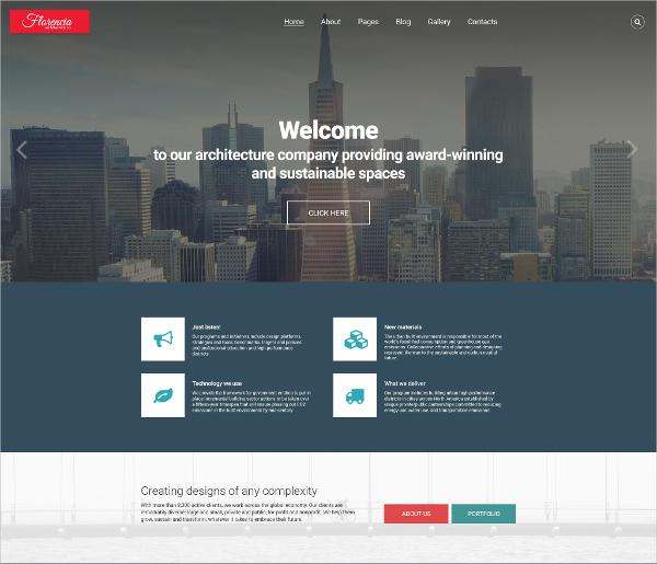 Architecture Responsive Joomla Blog Template