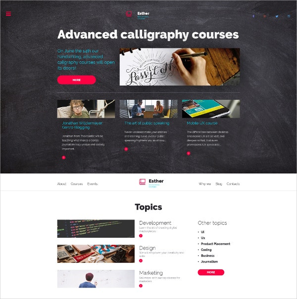 Education Responsive Moto CMS 3 Blog Template