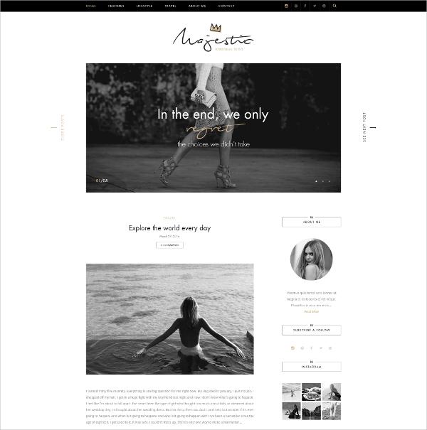 Premium Personal Blog PSD Template