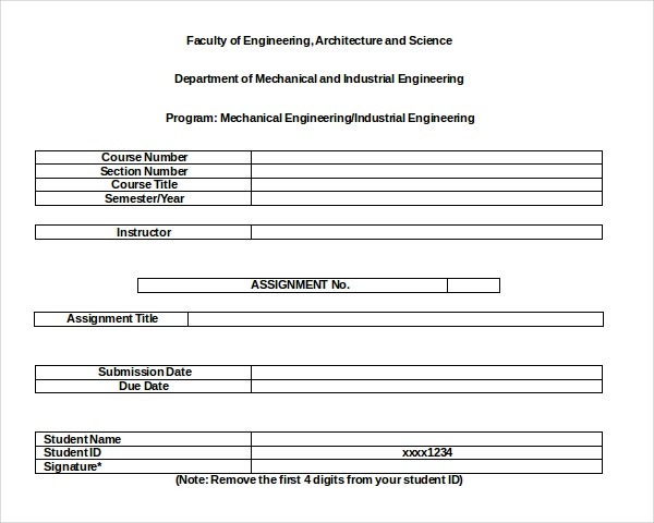 uts assignment cover sheet