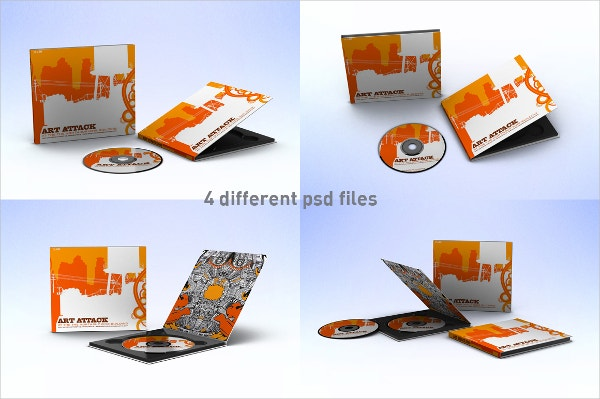 Designed DVD Cover Template Example