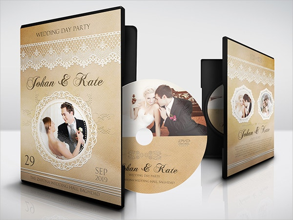 wedding anniversary dvd cover template