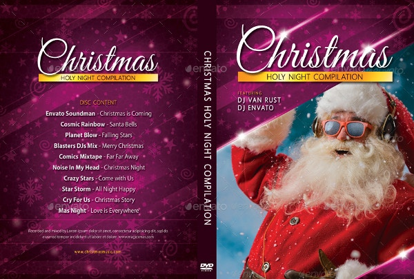 Merry Christmas DVD Cover Template