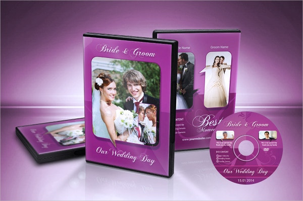 Wedding DVD Cover Template Example Format