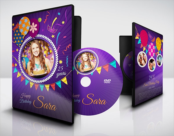 Birthday Party DVD Cover Template Sample