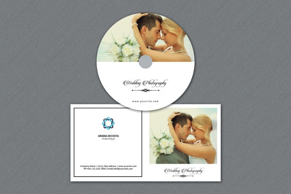 Photographer DVD Cover Template Example