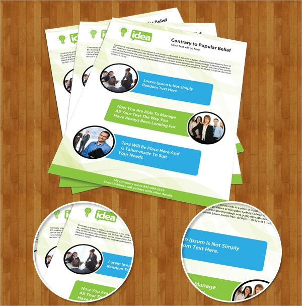 Free Corporate Single Side Brochure