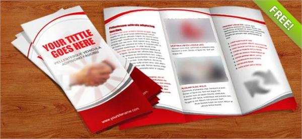 tri fold brochure psd template1