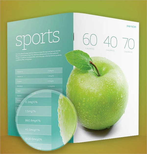 Fruits Brochure Template PSD Format Free Download
