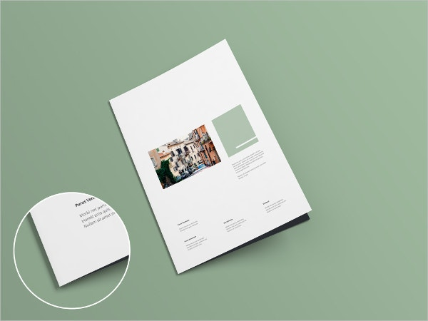 A4 Bi-fold Brochure Mock-up