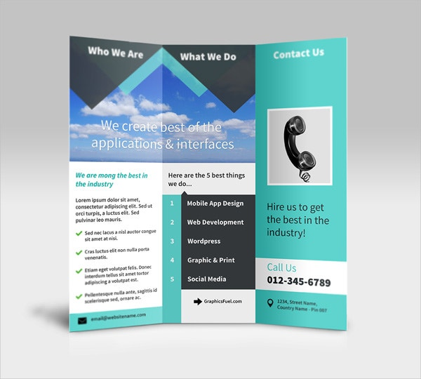 Design Your Own Tri-Fold Brochure