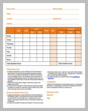 Project Daily Timesheet Template Download in PDF