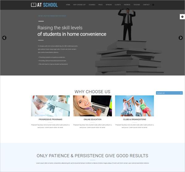 School Onepage Joomla Template