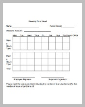 Bi Weekly Timesheet Template PDF Download