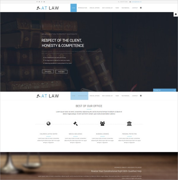 Law Onepage Joomla Template