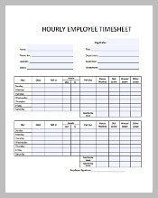 Free PDF Hourly Timesheet Template Download