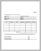 Blank Payroll Time Sheets Free Download in PDF