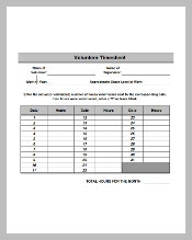 Volunteer Timesheet Template Excel Format