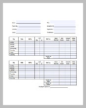 Simple Timesheet Template Free in PDF