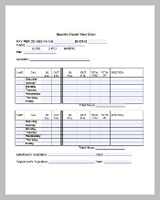 Parttime Payroll Timesheet Template in PDF Format