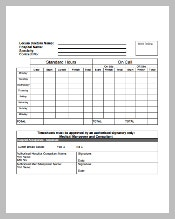 MS Excel Timesheet Template Free Download