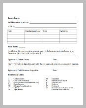Temporary Legal and Lawyer Timesheet Template in PDF