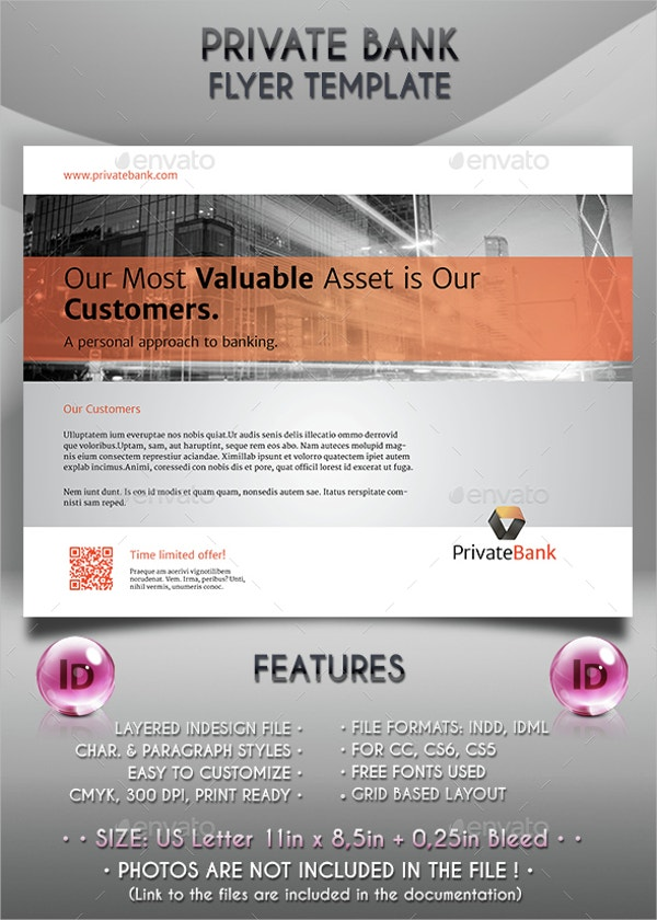 Private Bank Flyer Template