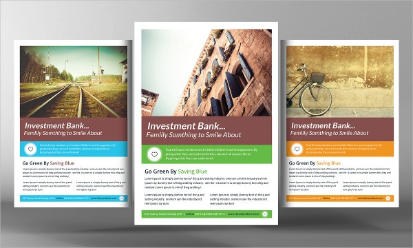 Modern Investment Bank Flyer