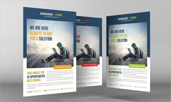 Delightful Banking Business Company Flyer Template