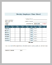 Weekly Timesheet with Breaks Download