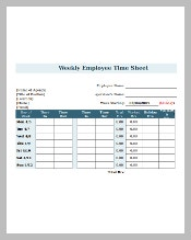 Employee Time Sheet with Breaks