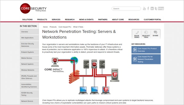 Core Security - Network Penetration Testing: Servers & Workstation