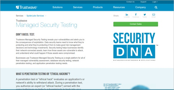 Trustwave Managed Security Testing