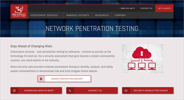 Network penetration Testing Rhino Security Tool