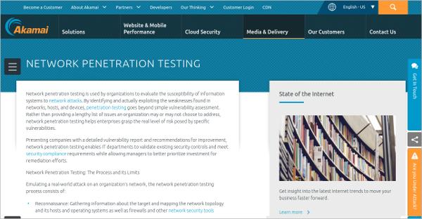 Akamai Network Penetration Testing Tool