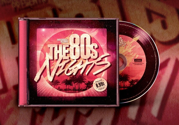 80s sample cd album artwork template