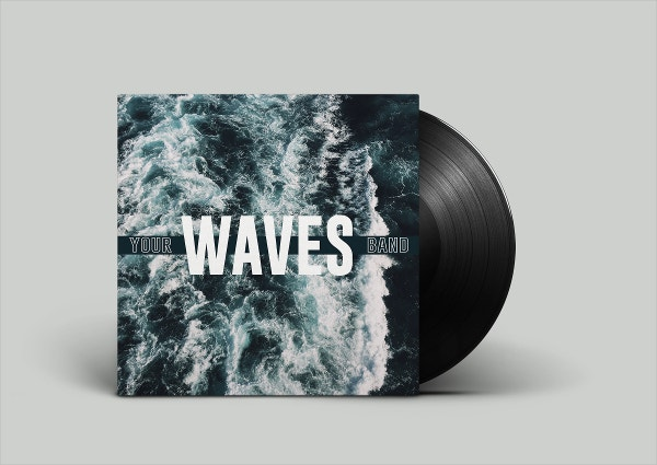 Waves Vinyl Album Cover Template Example