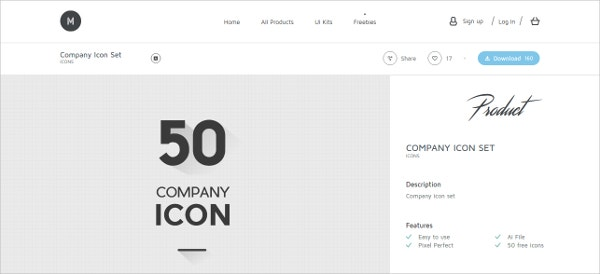 50 Company Icons for Free