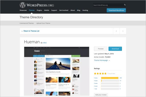 Wordpress Themes at Hueman