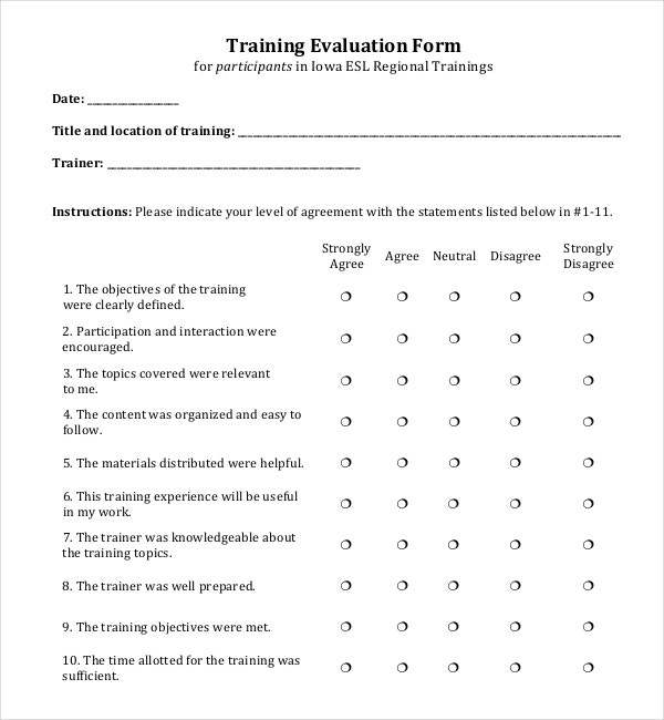 10+ Training Survey Templates – Free Sample, Example, Format