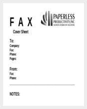 Business Fax Cover Sheet Template for Free