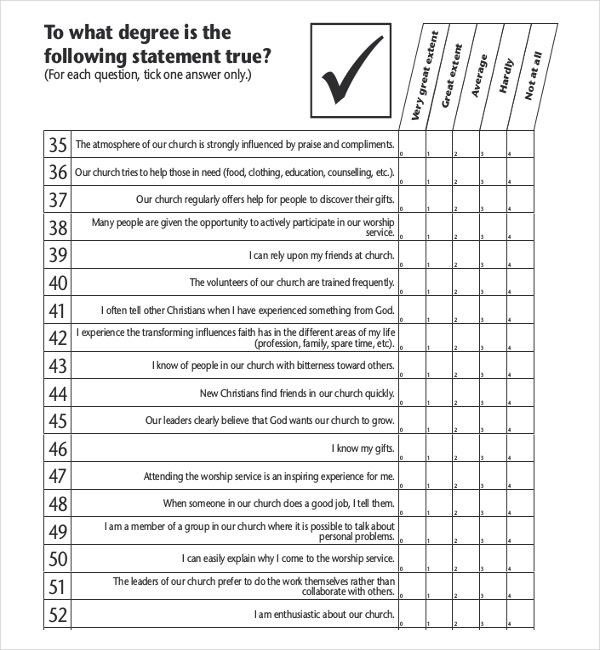 10+ Church Survey Templates – Free Sample, Example, Format
