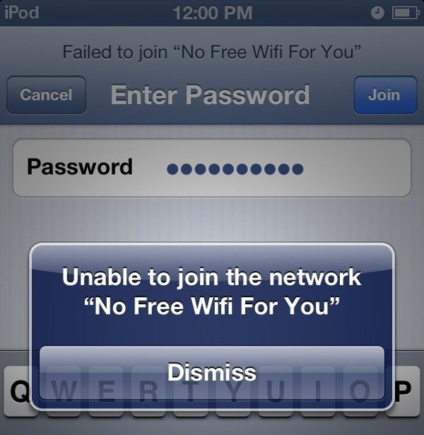 No Free WiFi For You