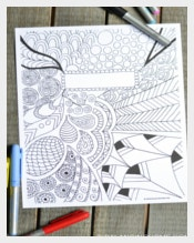 Coloring Page Sample  Binder Cover Template