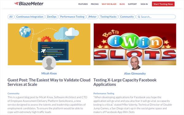 blazemeter cloud testing tool