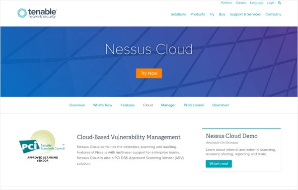 Nessus Cloud Tesing Based Vulnerability Management