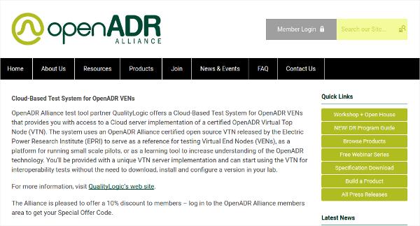 cloud based test system for openadr vens