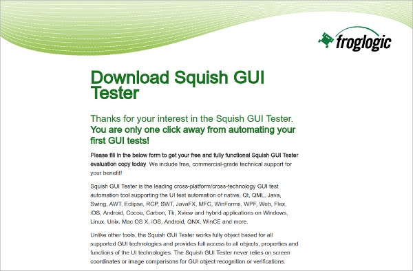 download squish gui mobile app tester tool - Gui Testing Resume