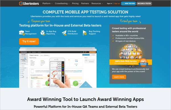 ubertesters mobile app testing solution tool